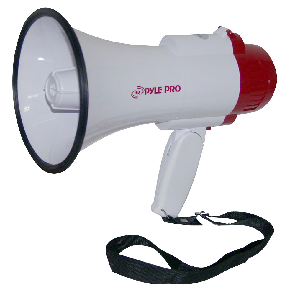 Professional Megaphone/Bullhorn with Voice Function and Siren PMP35R-Amplifiers & PA Systems-Pyle-Jayso Electronics