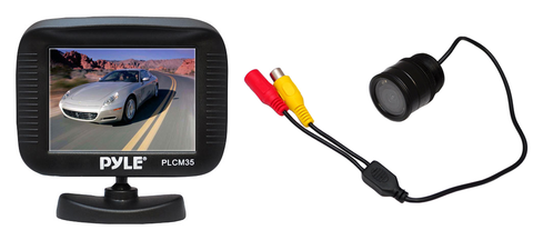 Rear View Camera Kit with Night Vision, Universal Deck Mount PLCM35R-Security Cameras & Recorders-Pyle-Jayso Electronics