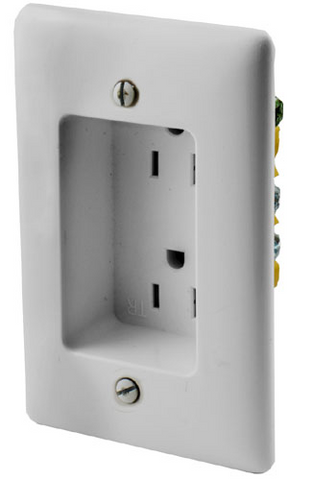 Recessed Duplex AC Receptacle Tamper Resistant Wall Plate JDWP-REC-Home Theater & Audio-Various-Jayso Electronics
