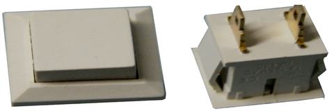 Replacement Rectangular Plastic Intercom Push-Button w/ 2 Solder Terminals JIB-009-Intercom Systems-Various-Jayso Electronics