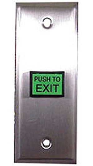 Request To Exit Pushbutton Switch, Small, Lighted, JTS-9-Access Controls-Alarm Controls-Jayso Electronics