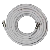 "RG59U Coaxial TV Antenna Cables with Male ""F"" Connectors, FF-XX-59U-Antennas-Various-3 Ft.-White-Jayso Electronics"