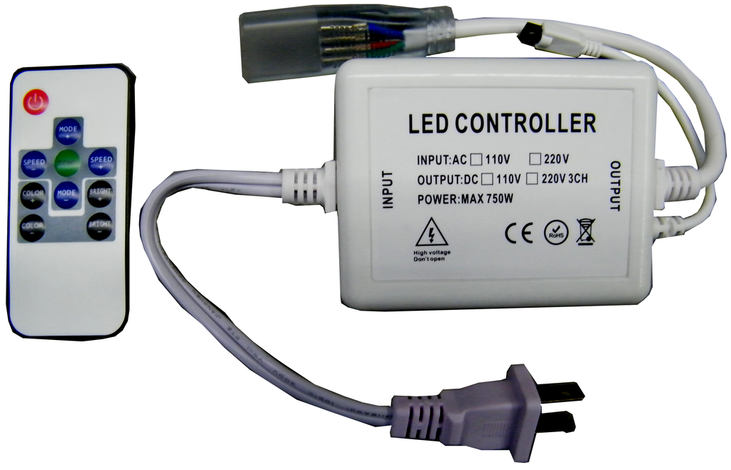 RGB IR Striplight Controller & Power Supply for Heavy Duty Vinyl Clad Weatherproof EC-SL-HDV-IRCTR-RGB-LED Lighting-EC-Jayso Electronics