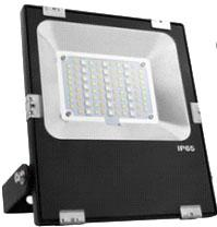 RGB LED Flood Light, 30 Watt, Sealed, Weatherproof, with Wireless RF Remote Control, EC-WPLED-RGB-30