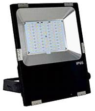 RGB LED Flood Light, 50 Watt, Sealed, Weatherproof, with Wireless RF Remote Control, EC-WPLED-RGB-50