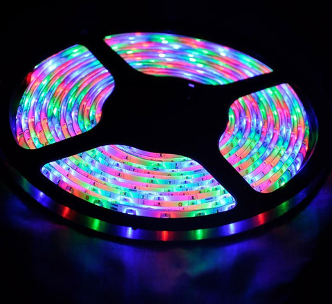 RGB LED Striplight, 16-Color, 4-Effect with IR Remote Control, Super Bright, 5 Meter EC-SLED-RGB-LED Lighting-EC-Jayso Electronics