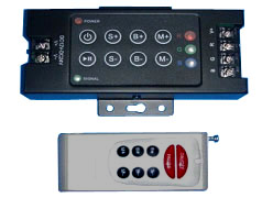 RGB RF Striplight Controller, 8 Key Remote Control, EC-RF-8KEY-LED Lighting-EC-Jayso Electronics