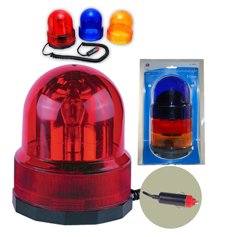 Rotating Beacon Automotive Warning Light 3Pc Set JFL-13RWL-Automotive Accessories-Various-Jayso Electronics