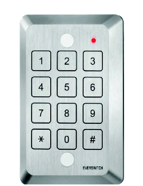 Single Gang Keypad, Tamper Resistant, for JTX3-CX Card Access System, Mircom, JKP-VPWG-Access Controls-Mircom-Jayso Electronics