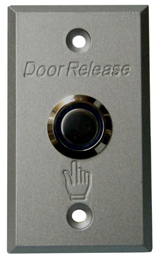 Small Rectangular Pushbutton Door Release Plate w/ Blue Lit Surround, JPP-3X2LT-Access Controls-Various-Jayso Electronics