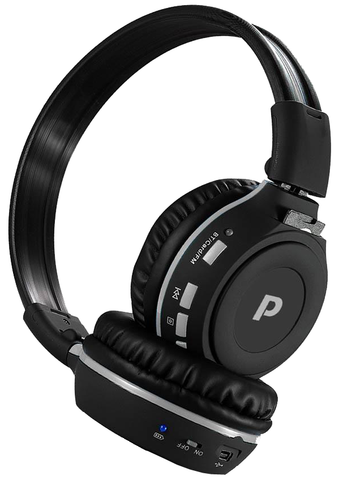Stereo Bluetooth Wireless MP3 Headphones with Call Answering, FM Radio, & SD Memory PHPMP39-Home Theater & Audio-Pyle-Jayso Electronics