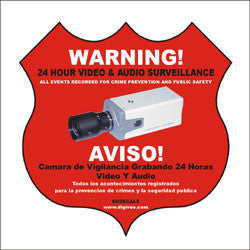 Surveillance Notification Decal ECDECAL5-Security Cameras & Recorders-EC-Default-Jayso Electronics