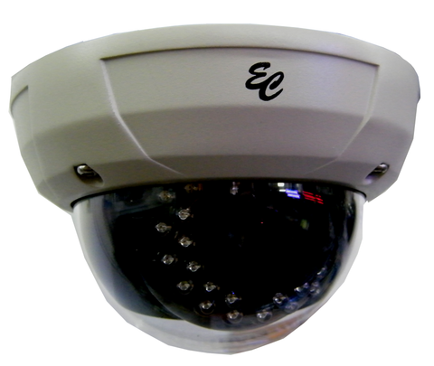 TVI Vandal Resistant IR Color Dome Camera 2.1 Megapixel TVI, 1080P HD ECTVI-VD2-1080-Security Cameras & Recorders-EC-Jayso Electronics