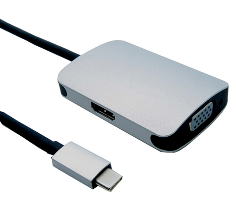 USB Type C to HDMI & VGA Video Adapter JUSB-C-HDVG-Computer & Accessories-Various-Jayso Electronics