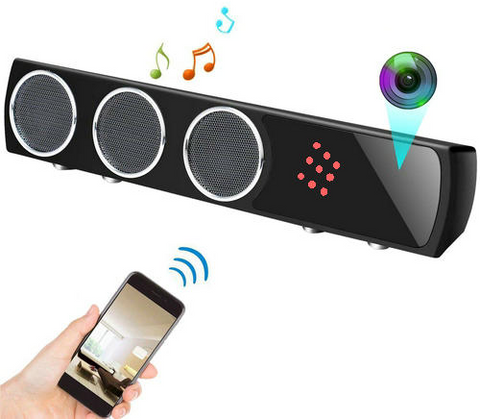 WiFi Bluetooth Speaker Camera/DVR JE-WIFISPY-SPKR-Security Cameras & Recorders-Various-Jayso Electronics