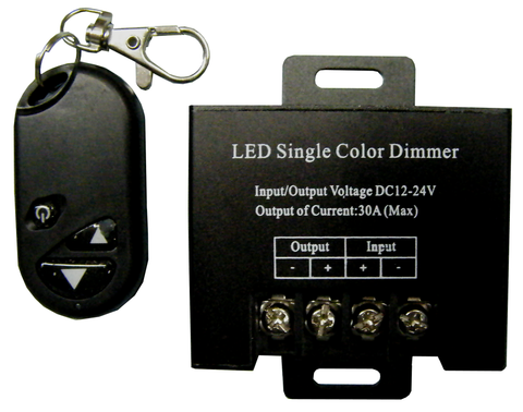 Wireless 30A LED Striplight Dimmer with RF Keychain Remote Control EC-RFDIM-30A-LED Lighting-EC-Jayso Electronics