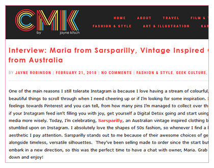 CMK - Maria from Sarsparilly, Vintage Inspired Clothing from Australia
