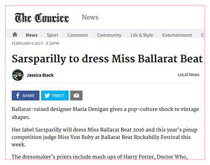 The Courier - Sarsparilly to dress Miss Ballarat Beat