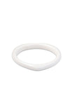 Heart Bangle - White