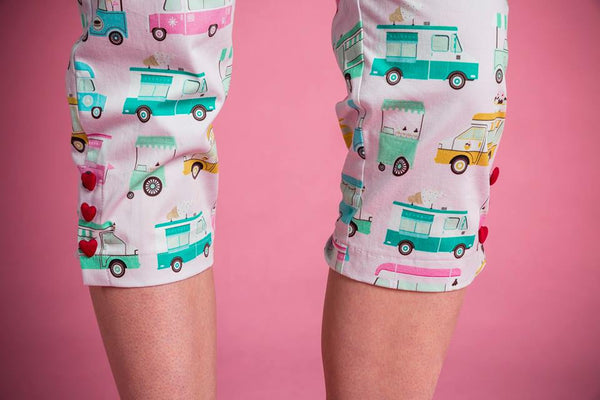 Rita pedal pushers in Ice Cream Truck print