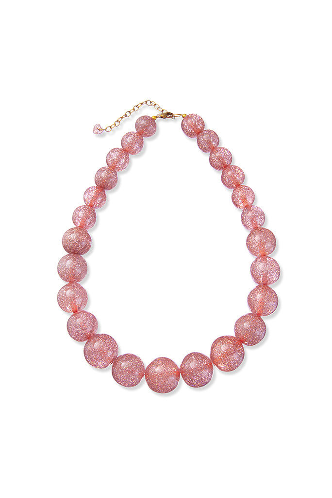 Peggy Necklace - Light Pink Glitter