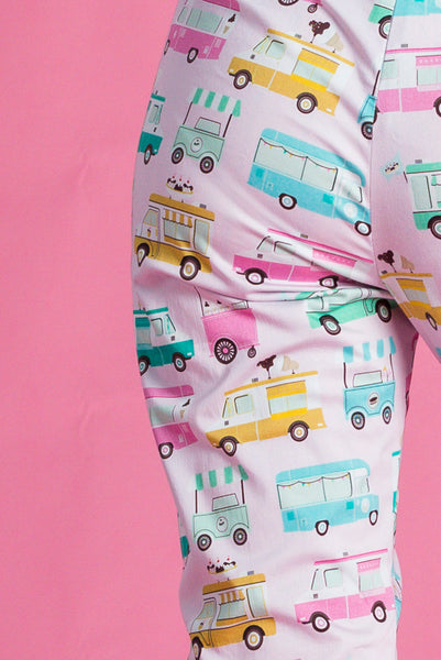 PRE-ORDER Rita pedal pushers in Ice Cream Truck print