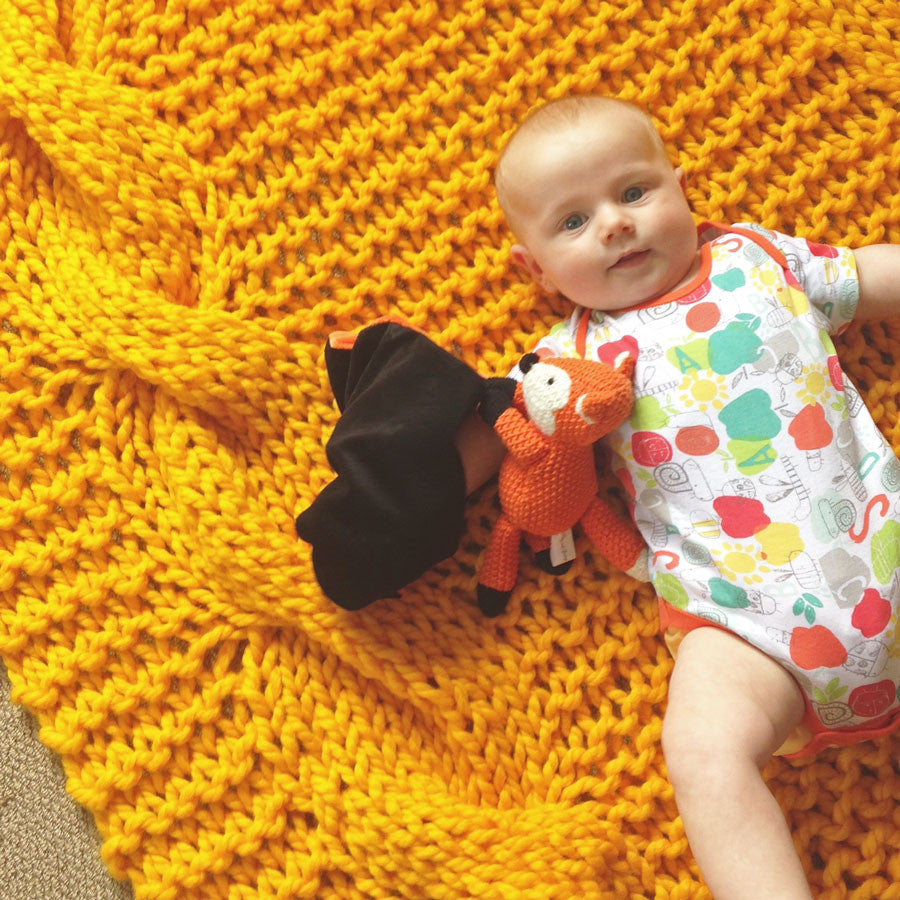 Free pattern: Golden Days blanket