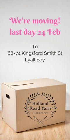 Holland Road Yarn Co is moving to Lyall Bay