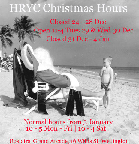 HRYC christmas hours 2015 - 16