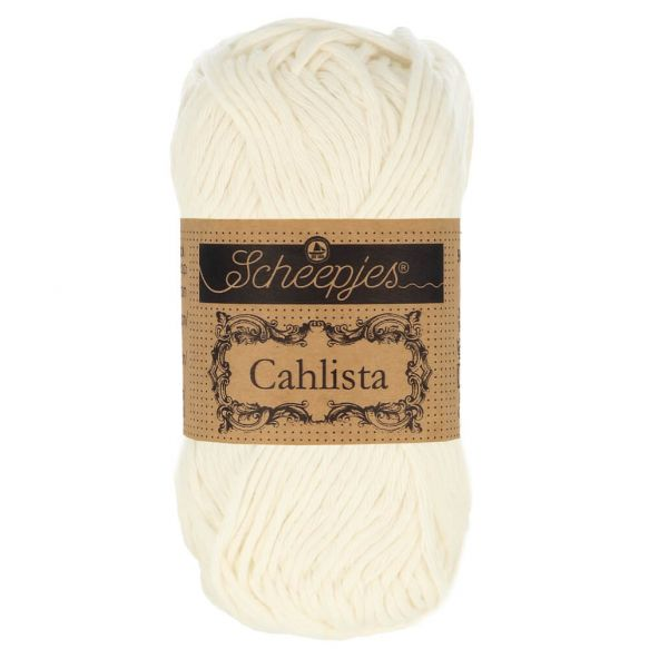 Scheepjes Cahlista Cotton - 105 Bridal White