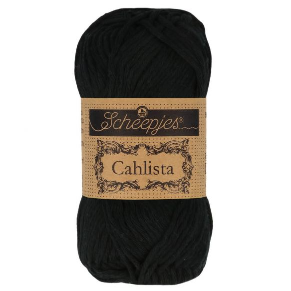 Scheepjes Cahlista Cotton - 110 Jet black