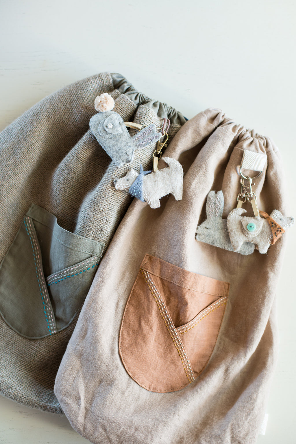Making #7: Desert. Child's backpack and animal keyrings