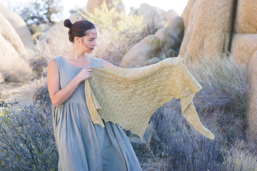 Making #7: Desert. Yardang Shawl