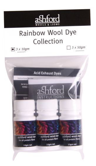 Ashford rainbow dye set - 10g