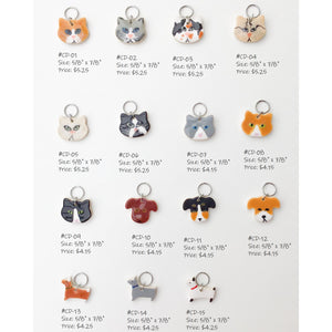 Cats & Dogs Stitch Marker Collection: Cat and Dog Knitting Place Markers