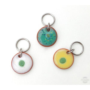 Color & Texture Stitch Marker Collection: Scallops and Circles with Burts of Color