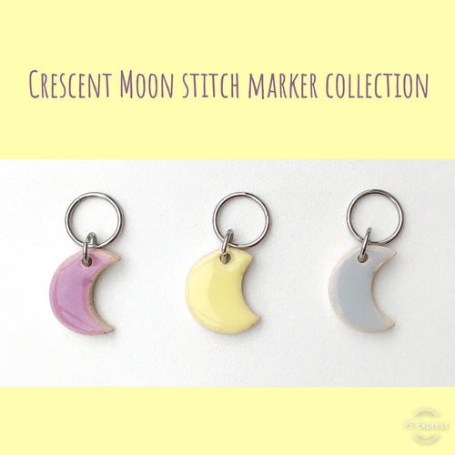 Crescent Moon Stitch Marker Collection: Celebrate the Moon with Every Stitch
