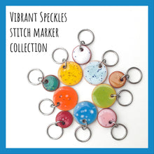Load image into Gallery viewer, Vibrant Speckles Stitch Marker Collection: Vibrant Colors with Speckles Throughout