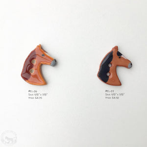 Equestrian Love Button Collection: Artisian Ceramic Horse Buttons - Buttons for Horse Lovers