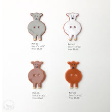 Load image into Gallery viewer, Wooly Friends Button Collection: Artisian Ceramic Sheep Buttons - Buttons for Sheep Lovers