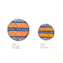 Load image into Gallery viewer, Tribal Button Collection: Simple Design and Contrasting Colors in African Motifs