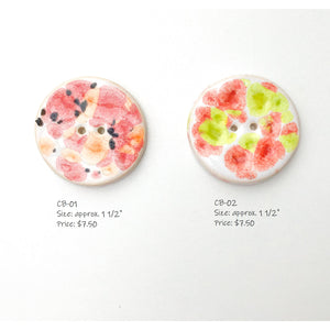 Color Burst Button Collection: Colorful Ceramic Buttons with a Tie Dye Motif