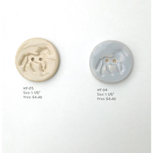 Wild & Free Button Collection: Ceramic Horse Buttons