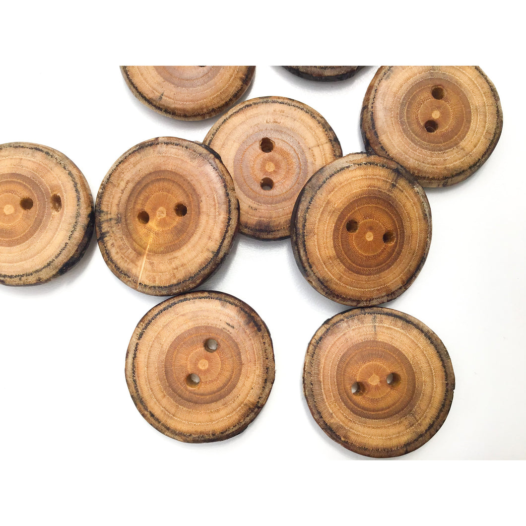 Mulberry Wood Buttons - 1 1/4