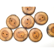 "Load image into Gallery viewer, Mulberry Wood Buttons - 1 1/4"" Wooden Buttons"