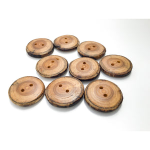"Mulberry Wood Buttons - 1 1/4"" Wooden Buttons"