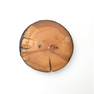 "Extra Large Spalted Maple Wood Button - 1 7/8"" Maple Wood Button -2 hole"