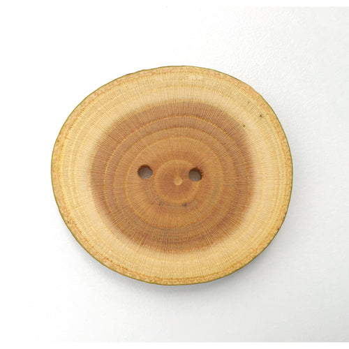Extra Large Mulberry Wood Button - 1 1/2