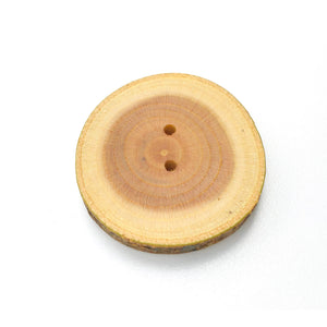 "Extra Large Mulberry Wood Button - 1 1/2"" to 1 3/4"" Round"