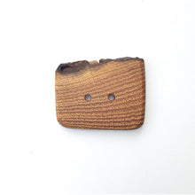 "Load image into Gallery viewer, Live Edge Black Locust Wood Button - 1 5/8"" x 1 1/4"" Large Wooden Button"